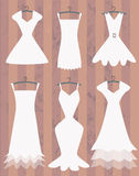 White dresses collection Royalty Free Stock Image