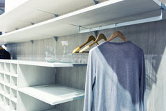 White dressing room Stock Images