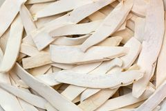 White dried Chinese Yam, Chinese potato, Shan Yao, cinnamon-vine. Selective focus of white dried Chinese Yam, Chinese potato, Shan Yao, cinnamon-vine, used as Stock Image