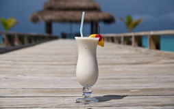 White drink at aholiday resort. White drink at a holiday resort, Maldives Royalty Free Stock Photography