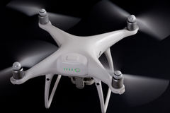 White drone against black background Stock Photo