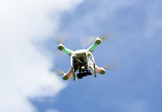 White drone flying Stock Photography