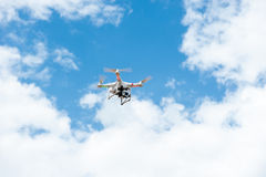 White drone hovering Stock Image