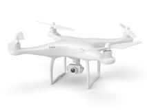 White drone isolated on white Stock Photos