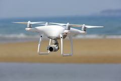 White drone quad copter Stock Images