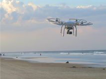 White Drone Under Blue Sky during Day Time Royalty Free Stock Photo