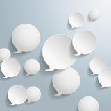White Drop Rings. On the grey background. Eps 10 file royalty free illustration