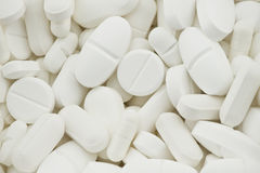 White drugs pills Royalty Free Stock Photos