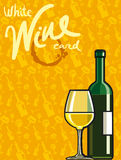 White dry wine card Royalty Free Stock Photo