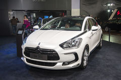 White ds5 car Royalty Free Stock Image