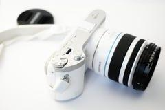 White Dslr Camera Stock Images