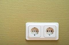White dual socket Royalty Free Stock Image
