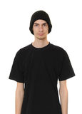 White Dude Wearing Black Beanie Hat Stock Photography
