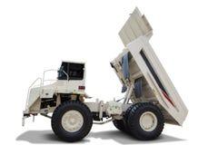 White dump truck  on white background Stock Photography