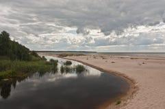 White dune near Riga, Latvia Royalty Free Stock Photos