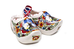 White Dutch shoes. On white Stock Images