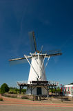 White Dutch windmill Stock Image