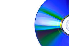 White and DVD. A white part near a DVD to write on Royalty Free Stock Image