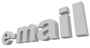 white e - mail Zdjęcia Stock