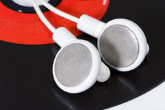 White earphone Stock Images