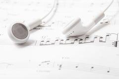 White earphone Stock Photos