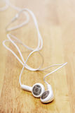 White earphone Stock Image