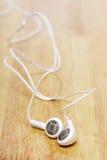 White earphone Stock Image