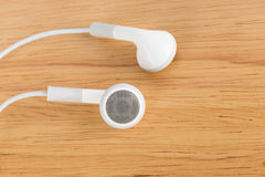 White earphone Stock Photos