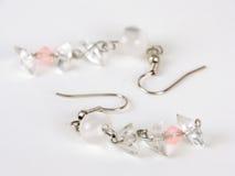White earring stock images