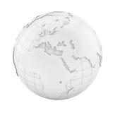 White earth globe Royalty Free Stock Image