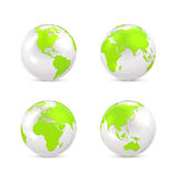White Earth globe Stock Photos
