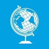 White earth globe. Isolated on blue background royalty free illustration
