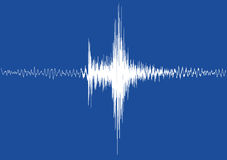 A white earthquake Graph isolated Stock Photo