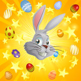 White Easter bunny background Royalty Free Stock Image