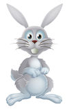 White easter bunny royalty free illustration