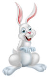 White Easter Bunny Rabbit Stock Images