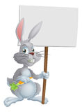 White Easter bunny rabbit sign Royalty Free Stock Image