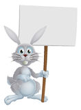 White Easter bunny sign Stock Images