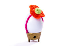 White easter egg. Isolated on white background Stock Image