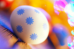 White Easter egg on abstract background Stock Image