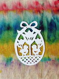 White Easter egg. Paper cutting Royalty Free Stock Photography