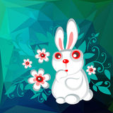 White easter rabbit Stock Photo