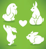 White Easter rabbits Stock Photography