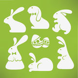 White Easter rabbits Stock Images
