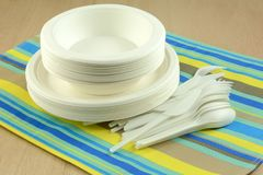 Eco-friendly disposable plates bowls and cultery