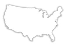 White eeuu map Royalty Free Stock Photography