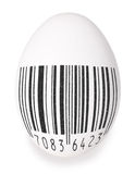 Egg with black bar-code Royalty Free Stock Photography
