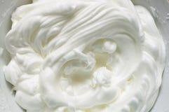White egg cream Stock Photo