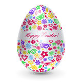 White egg with flowers Royalty Free Stock Image