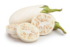 White eggplant cut Stock Photo